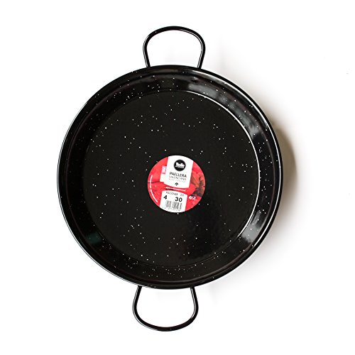 Enamelled Steel Valencian paella pan 12Inch / 30cm / 4 Servings by Castevia Imports