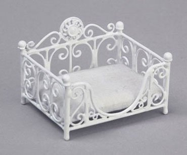 Dollhouse RECTANGULAR CAT BED, WHITE (Cat Rectangular)