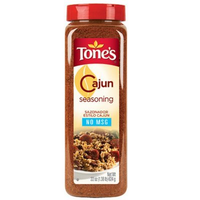 Tone's Cajun Seasoning - 22 oz. shaker (2 Pack) (Seasoning Tones Garlic Pepper)