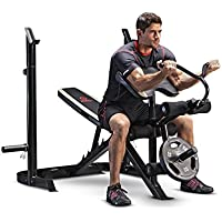 Marcy Adjustable Olympic Weight Bench Leg Developer Squat Rack MD-879