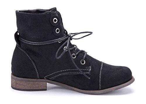 c25a6db305eaba ... Schuhtempel24 Damen Schuhe Klassische Stiefeletten Stiefel Boots  Blockabsatz 3 cm Schwarz ...