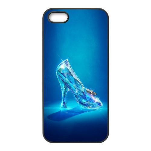 Cinderella 1 coque iPhone 5 5S cellulaire cas coque de téléphone cas téléphone cellulaire noir couvercle EOKXLLNCD22877