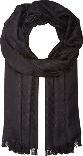 COACH Women's Signature Stole Black One Size ()