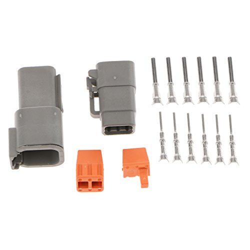 Baoblaze 1 Set Car 6-Pins Sealed Electrical Wire Connector Plug with Terminals: