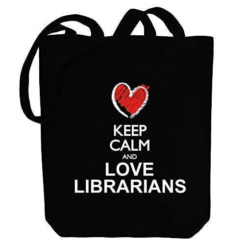 style and Canvas calm love Keep Tote chalk Bag Idakoos Librarians E7YqC6wY1