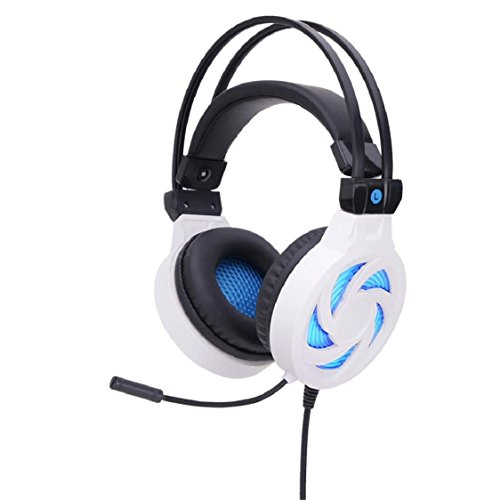 Price comparison product image Larger Wireless Bluetooth Headphones,Sunfei Stereo Gaming Headset Headband Headphone USB 3.5mm LED with Mic for PC (White)