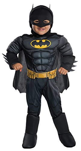 Infant Batman And Robin Costumes (Rubie's Costume DC Comics Toddler Deluxe Batman Costume, X-Small,)