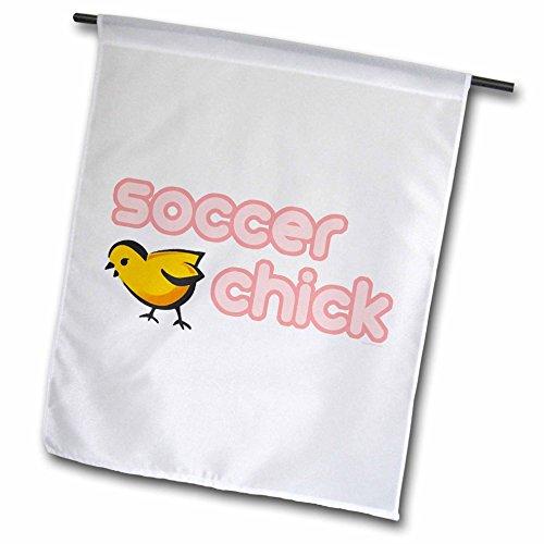 Soccer Chick - 3dRose fl_16523_1 Soccer Chick Garden Flag, 12 by 18-Inch