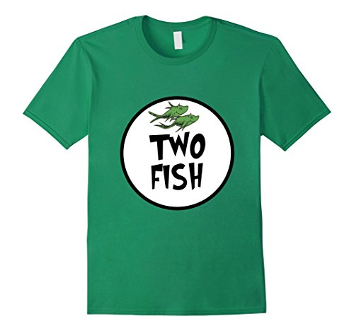Mens Cute Rhyming Two Fish T-shirt | Group Matching Costume Small Kelly (Easy Halloween Costumes For Kindergarten Teachers)