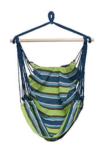 Large Deluxe BRAZILIAN HAMMOCK CHAIR - Hanging Rope Swing - Hang Indoor Or Outdoor - No Hammock Stand Required - by Inspired Home Living