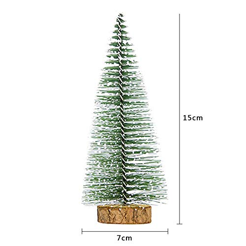 Mini Christmas Tree DIY Decor Artificial Snowflakes Christmas Tree Festival Party Ornaments Xmas]()