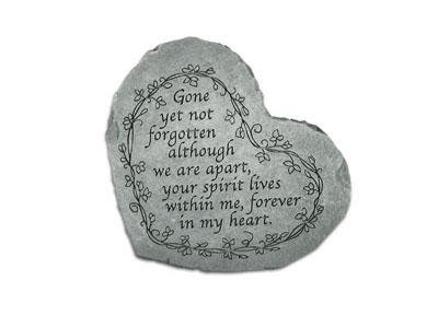 Small Heart Stepping Stone- Gone yet not forgotten
