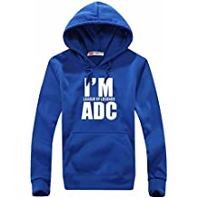 """""""I Am ADC """"League Of Legends Men's Winter Sport Sweater Coat With Hat Clothing Hoodies"""
