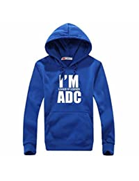 """I Am ADC ""League Of Legends Men's Winter Sport Sweater Coat With Hat Clothing Hoodies"