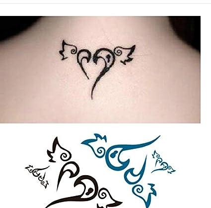 LFVGUIOP Flying Love Wings Etiquetas engomadas del Tatuaje a ...
