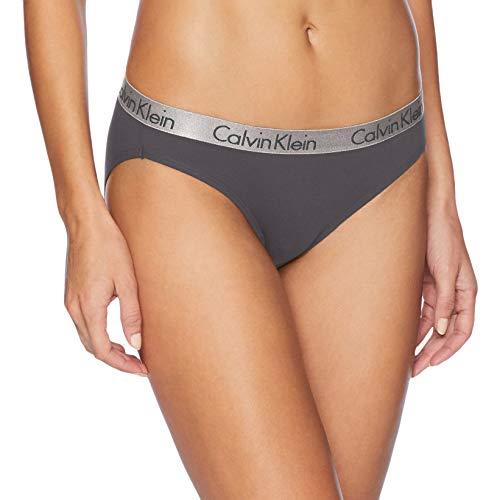 Calvin Klein Classic Panties - Calvin Klein Women's Logo Cotton Bikini Panty, Ashford Grey, Medium