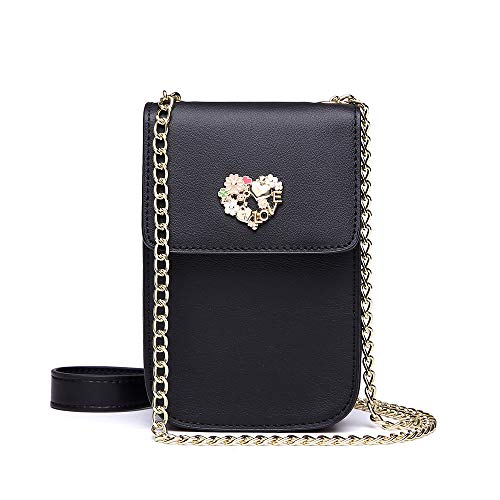 NeverOut Women Girls Cute Small Crossbody Shoulder Bag Split Leather Cell phone Purse wallet ()