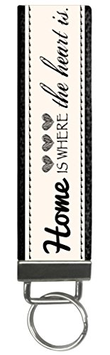 Snaptotes Trendy Motivational Home is where your Heart is Wristlet Keychain by Snaptotes