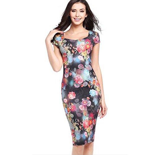 GWELL Fashion Damen Kleider Etuikleid Cocktailkleid Partykleid ...