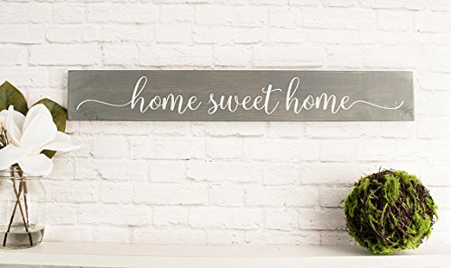 onepicebest Home Sweet Home - Placa Decorativa de Madera ...