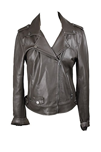 Luckybrand Lucky Brand Dark Brown Faux-Leather Moto Jacket M by LuckyBrand