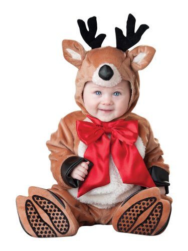 InCharacter Costumes Baby's Reindeer Rascal Costume, Brown, X-Small (Reindeer Baby Costume)