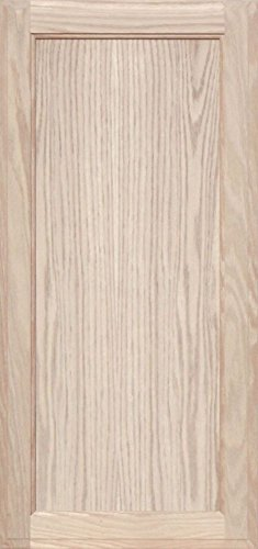 Unfinished Oak Square Flat Panel Cabinet Door by Kendor, 32H x 15W ()