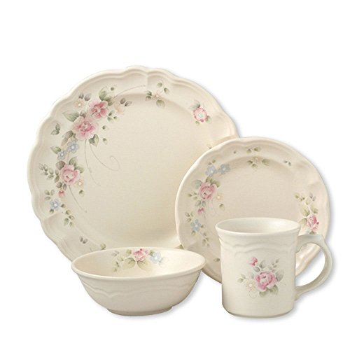 Pfaltzgraff Tea Rose 16 Piece Dinnerware Set, Service for 4