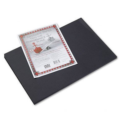PACON CORPORATION, Riverside Construction Paper, 76 lbs., 12 x 18, Black, 50 Sheets/Pack -