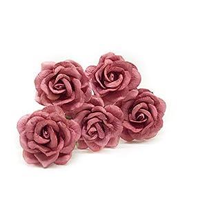 "1.5"" Mauve Paper Flowers, Mulberry Paper Flowers, Mulberry Paper Roses, DIY Wedding, Flower Backdrop, Blush Wedding, DIY Wedding Favors, 12 Pieces 5"