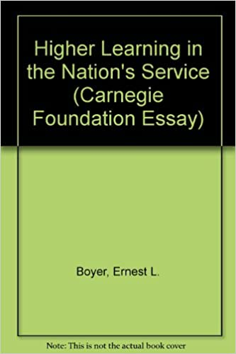 Higher Learning In The Nation S Service Carnegie Foundation Essay