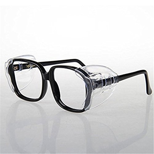 Luony Safety Glasses Side Shields,2 Pairs Slip On Clear Side Shields for Safety Glasses-Fits Small to Medium - Shields Glasses