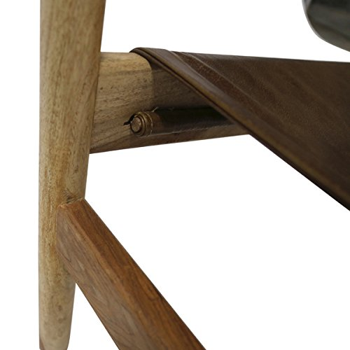 Wanderloot Genoa Solid Sheesham and Leather Sling Chair (India) | This Item is Beautiful Exotic Hardwood by Porter International Designs. (Image #5)