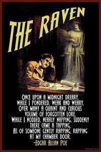 The Raven Art Poster by Edgar Allen Poe