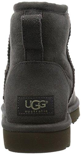 UGG Femme Classic Mini Bottes Sans fermeture Gris (Grigio) 7TBDoP
