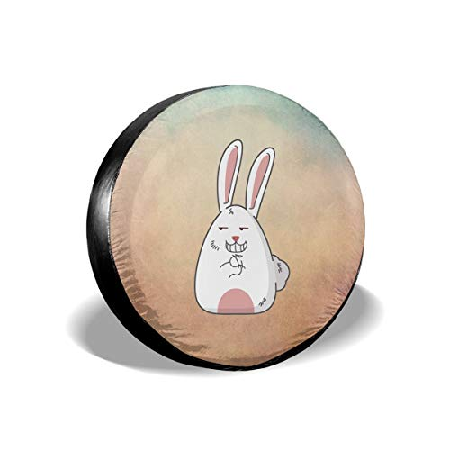 - Spare Tire Cover, Cartoon Rabbit Printing Wheel Protectors PVC Waterproof Dustproof for Jeep Trailer SUV RV and Many Vehicles(14,15,16,17 Inch)