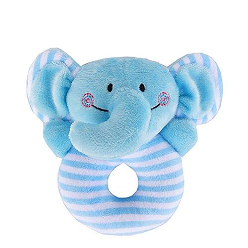 Kids Baby Animal Handbells Gbell Musical Developmental Toy Bed Bells Rattle Toys Gift  Blue