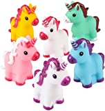 RI Novelty Mini Rubber Unicorns Bright Colors - Pack of 12