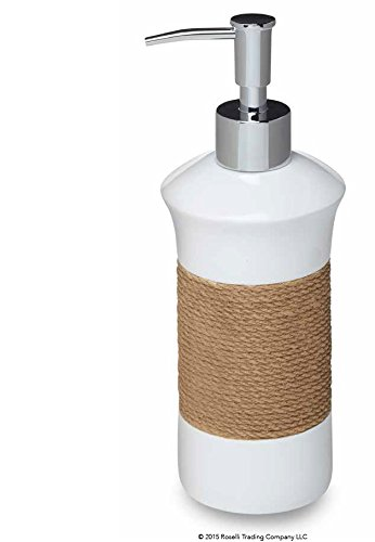 Roselli Trading Company Castaway Collection Lotion Pump One Size White Resin/Jute
