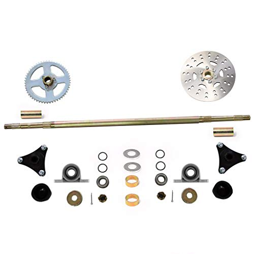 WPHMOTO Go Kart Rear Axle Assembly Complete Wheel Hub Kit for Mini Kids ATV  Quad Buggy