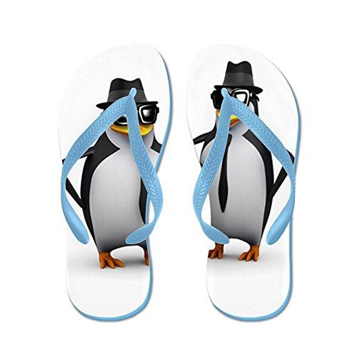 Vraiment Teague Mens Cool Penguins Caoutchouc Flip Flops Sandales Caribbean Bleu