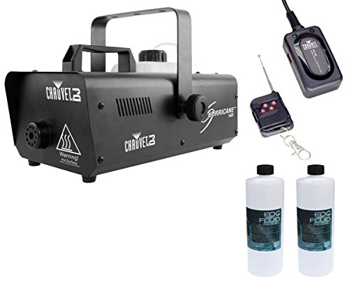 Chauvet H1400 Hurricane 1400 Fog Machine +Wireless Remote +2x Fluid/Juice Quart by Chauvet