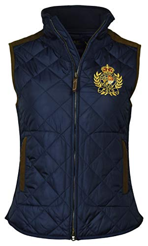 Polo Ralph Lauren Women's Leather Trimmed Quilted Crest Logo Vest - XL - - Polo Lauren Ralph Vest