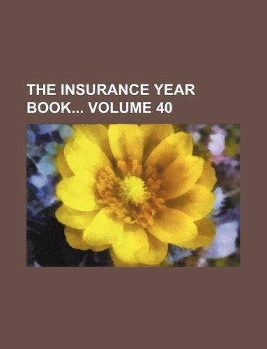Download The Insurance year book Volume 40 Pdf