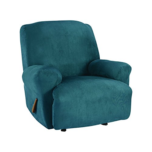 Sure Fit Ultimate Stretch Suede   Recliner Slipcover   Peacock Blue  (SF45270)