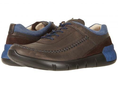 ECCO(エコー) メンズ 男性用 シューズ 靴 スニーカー 運動靴 Cross X Classic Tie - Coffee/Marine/Coffee [並行輸入品] B07C8R7L4D