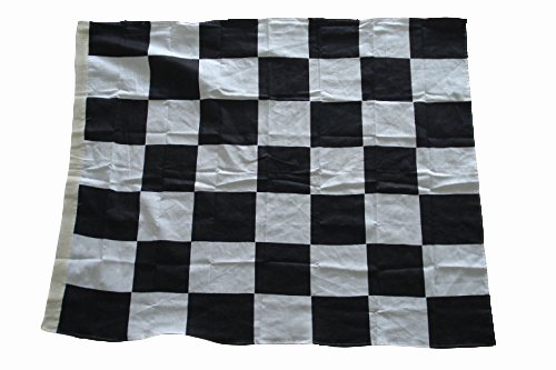 Nascar Racing Flag - Black and White - 100% COTTON - 27