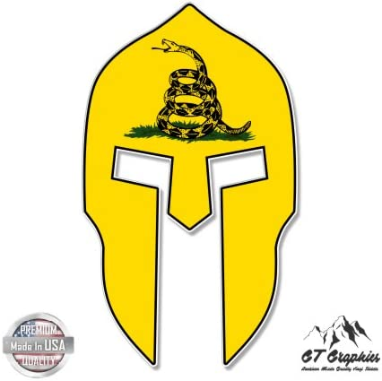 Vinyl Sticker Waterproof Decal Spartan Helmet Texas Flag