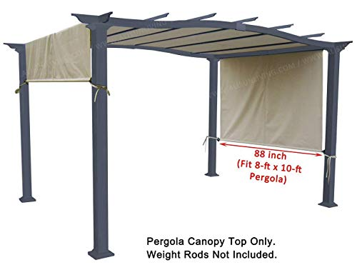 ALISUN Universal Replacement Canopy Top for 8′ x 10′ Pergola Structure – Beige ...