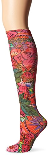 Floral High Socks Knee - Laurel Burch Women's Single Pack Lively Nature Knee High Socks, Blossoming Floral, 9-11